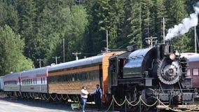 Τραίνο εμπόρων ξυλείας ξυλείας Hammond στοκ φωτογραφία με δικαίωμα ελεύθερης χρήσης
