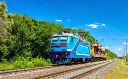 Τραίνο εφαρμοσμένης μηχανικής στην περιοχή του Κίεβου της Ουκρανίας Στοκ εικόνα με δικαίωμα ελεύθερης χρήσης