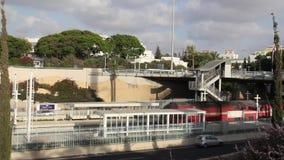 Τραίνο και δημόσιο μέσο μεταφοράς στο Ισραήλ απόθεμα βίντεο