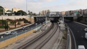 Τραίνο και δημόσιο μέσο μεταφοράς απόθεμα βίντεο