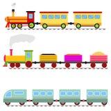 Τραίνο κινούμενων σχεδίων, σιδηρόδρομος τραίνων παιχνιδιών παιδιών ` s διανυσματική απεικόνιση