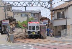 Τραίνο Κιότο Ιαπωνία Arashiyama Στοκ Εικόνα