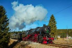 Τραίνο μαύρη δασική Γερμανία ατμού Στοκ Φωτογραφία