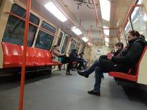 Τραίνο μετρό γκράφιτι Στοκ εικόνα με δικαίωμα ελεύθερης χρήσης