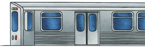 Τραίνο 1 μετρό - κανένα υπόβαθρο Στοκ Εικόνα