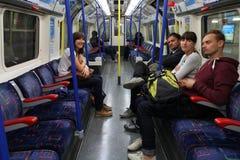 Τραίνο μετρό του Λονδίνου Στοκ Εικόνες