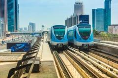 Τραίνο μετρό του Ντουμπάι Στοκ φωτογραφίες με δικαίωμα ελεύθερης χρήσης