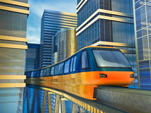 τραίνο μονοτρόχιων σιδηρο απεικόνιση αποθεμάτων