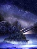 Τραίνο νύχτας διανυσματική απεικόνιση