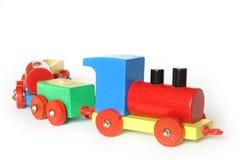 τραίνο παιχνιδιών ξύλινο Στοκ Εικόνα