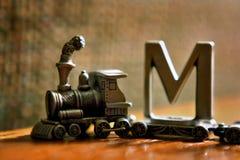τραίνο παιχνιδιών πηούτερ επιστολών Στοκ φωτογραφία με δικαίωμα ελεύθερης χρήσης