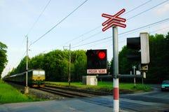 Τραίνο προσοχής, κίνδυνος Στοκ εικόνα με δικαίωμα ελεύθερης χρήσης