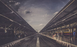 Τραίνο ραγών Στοκ φωτογραφία με δικαίωμα ελεύθερης χρήσης