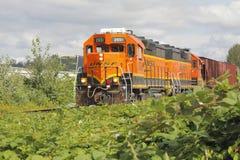Τραίνο ραγών BNSF στοκ φωτογραφία