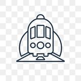 Τραίνο σε ένα διανυσματικό εικονίδιο σηράγγων που απομονώνεται στο διαφανές υπόβαθρο απεικόνιση αποθεμάτων