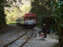 Τραίνο σε Machu Picchu, Περού Στοκ φωτογραφία με δικαίωμα ελεύθερης χρήσης