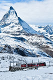 Τραίνο σε Matterhorn Στοκ Φωτογραφίες