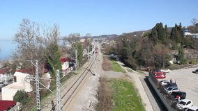 τραίνο σιδηροδρόμων φιλμ μικρού μήκους