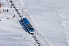 Τραίνο σιδηροδρόμων Rigi Στοκ Εικόνα