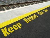 τραίνο σταθμών ασφάλειας Στοκ φωτογραφίες με δικαίωμα ελεύθερης χρήσης