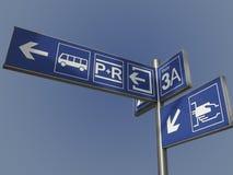 τραίνο σταθμών πληροφοριών Στοκ Εικόνες
