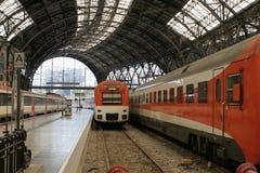 τραίνο σταθμών της Βαρκελώνης Στοκ Φωτογραφία