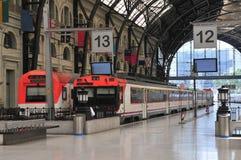 τραίνο σταθμών της Βαρκελώ Στοκ φωτογραφία με δικαίωμα ελεύθερης χρήσης