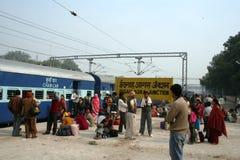 τραίνο σταθμών της Ινδίας agra Στοκ εικόνες με δικαίωμα ελεύθερης χρήσης