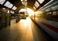 τραίνο σταθμών της Καρλσρ&omi Στοκ εικόνες με δικαίωμα ελεύθερης χρήσης