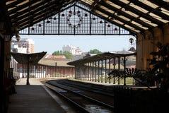 τραίνο σταθμών της Πορτογ&alp Στοκ φωτογραφία με δικαίωμα ελεύθερης χρήσης