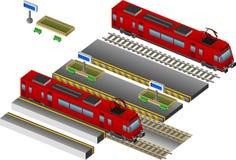 τραίνο σταθμών απεικόνιση αποθεμάτων