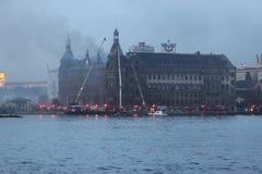 τραίνο σταθμών haydarpasa πυρκαγιά&sigm Στοκ φωτογραφίες με δικαίωμα ελεύθερης χρήσης
