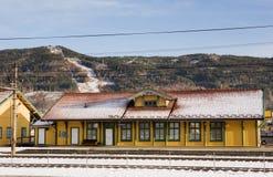 τραίνο σταθμών vikersund Στοκ φωτογραφία με δικαίωμα ελεύθερης χρήσης