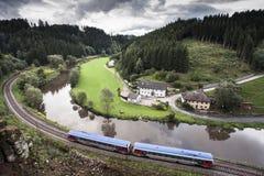Τραίνο στην Αυστρία Στοκ φωτογραφία με δικαίωμα ελεύθερης χρήσης
