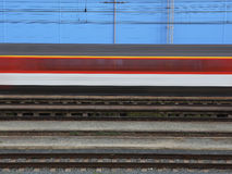 Τραίνο στην ταχύτητα Στοκ Εικόνα