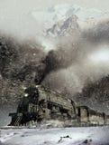 Τραίνο στη θύελλα ελεύθερη απεικόνιση δικαιώματος