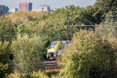 Τραίνο στη φύση Στοκ Φωτογραφίες