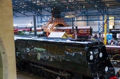 Τραίνο στο εθνικό μουσείο σιδηροδρόμων στην Υόρκη, Γιορκσάιρ Αγγλία Στοκ Εικόνα
