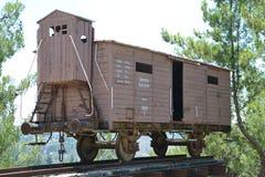 Τραίνο στο ολοκαύτωμα Shoa αναμνηστικό Yad Vashem στην Ιερουσαλήμ, Ισραήλ στοκ εικόνα με δικαίωμα ελεύθερης χρήσης