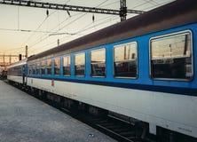 Τραίνο στο Πίλζεν Στοκ φωτογραφία με δικαίωμα ελεύθερης χρήσης