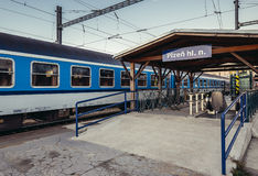 Τραίνο στο Πίλζεν Στοκ Εικόνες