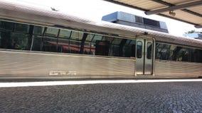 Τραίνο στο σταθμό Στοκ Εικόνες