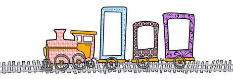 Τραίνο στο σχέδιο διανυσματική απεικόνιση