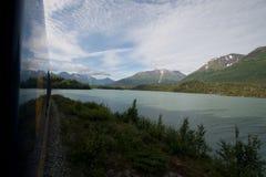Τραίνο της Αλάσκας Στοκ Φωτογραφίες