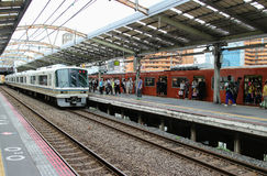 Τραίνο της Ιαπωνίας Οζάκα JR Στοκ φωτογραφίες με δικαίωμα ελεύθερης χρήσης