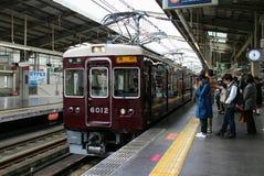 Τραίνο της Ιαπωνίας Οζάκα JR Στοκ Φωτογραφία