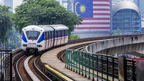 Τραίνο της Μαλαισίας LRT Στοκ εικόνες με δικαίωμα ελεύθερης χρήσης
