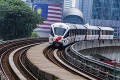 Τραίνο της Μαλαισίας LRT Στοκ Φωτογραφίες
