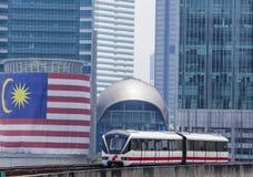 Τραίνο της Μαλαισίας LRT Στοκ εικόνα με δικαίωμα ελεύθερης χρήσης