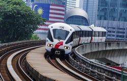 Τραίνο της Μαλαισίας LRT Στοκ φωτογραφία με δικαίωμα ελεύθερης χρήσης